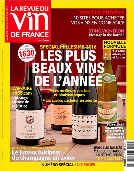Le Blanc Pente des Coutis parmi les meilleurs vins de 2016