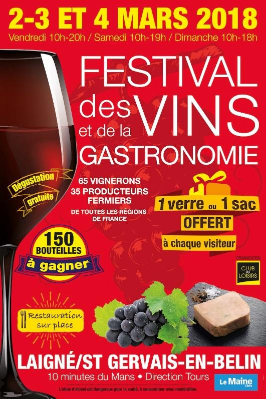 Festival des vins et de la gastronomie du 02 au 04 mars 2018